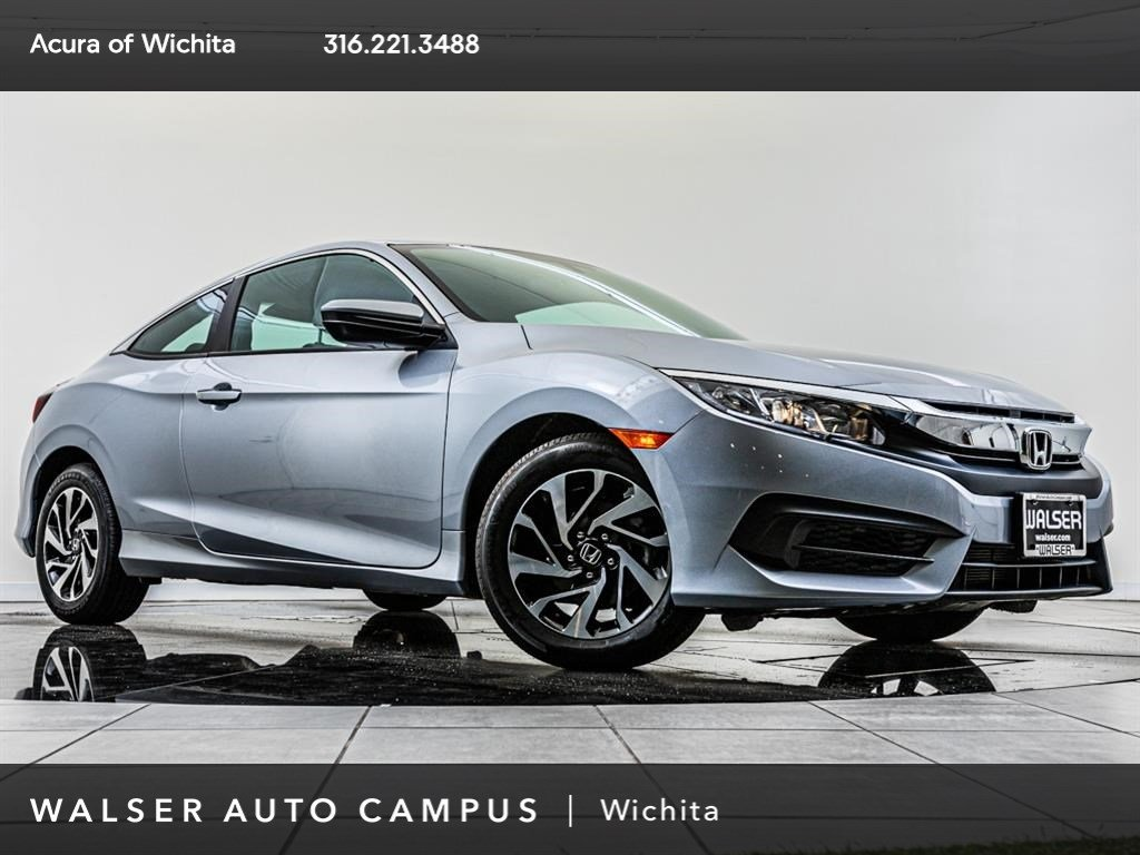 Pre-Owned 2016 Honda Civic Coupe LX, 1-Owner
